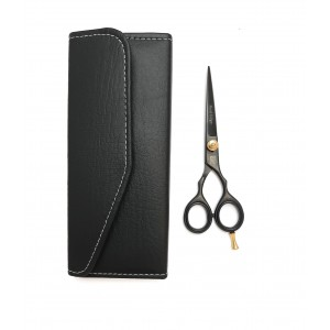 PROFESSIONAL HAIR CUTTING RAZOR SCISSORS BLACK 5.5""
