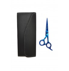 BLUE PROFESSIONAL HAIRDRESSING RAZOR SCISSORS 5.5""