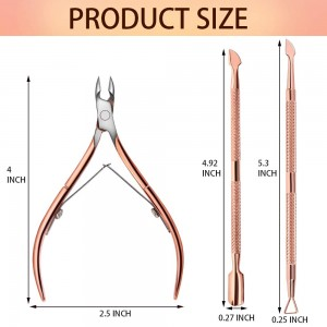 Rose Gold Cuticle Clipper and Pusher